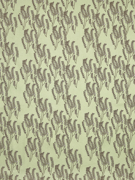 Maricopa Graphic Floral Pattern Cotton Linen & Canvas Fabric by the Yard in Pale Eau de Nil Green & Gray