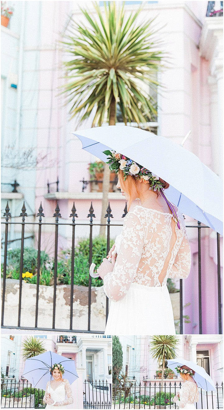 Pastel in the City Umbrella Hire Brolly Bucket Notting Hill