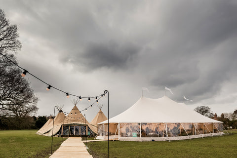Papakata Wedding Open Weekend Esrick House, York - Tipi and Sperry Tents