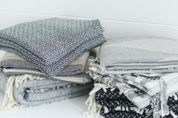 Soft Patterned Blankets (stack of 3)