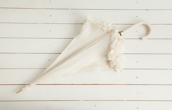 Ivory Ruffle Umbrella
