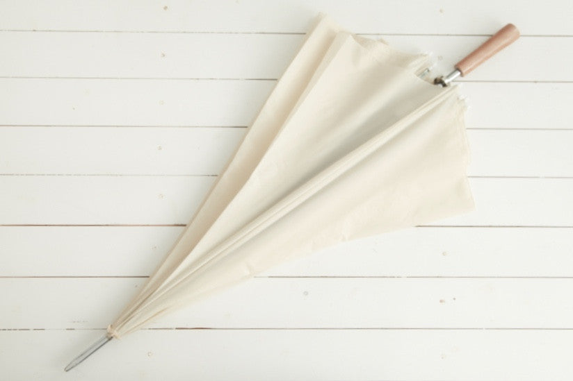 Large Ivory Bridal Umbrella