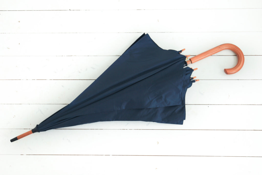 fed26c634 Navy Blue Wedding Wood Stick Party Umbrella for Hire – Brolly Bucket