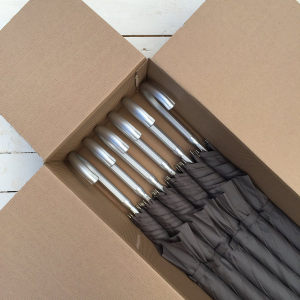 Set of 6 Ex Hire Grey Umbrellas