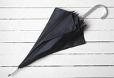 Black Umbrella to hire from brollybucket