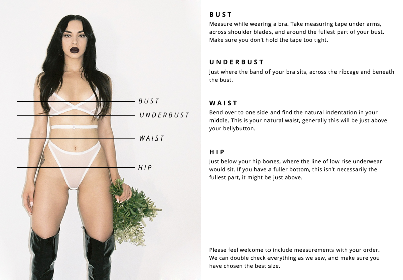 Hopeless Lingerie How To Measure