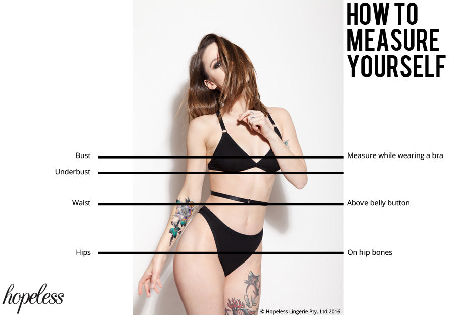 Hopeless Lingerie How to Measure Guide