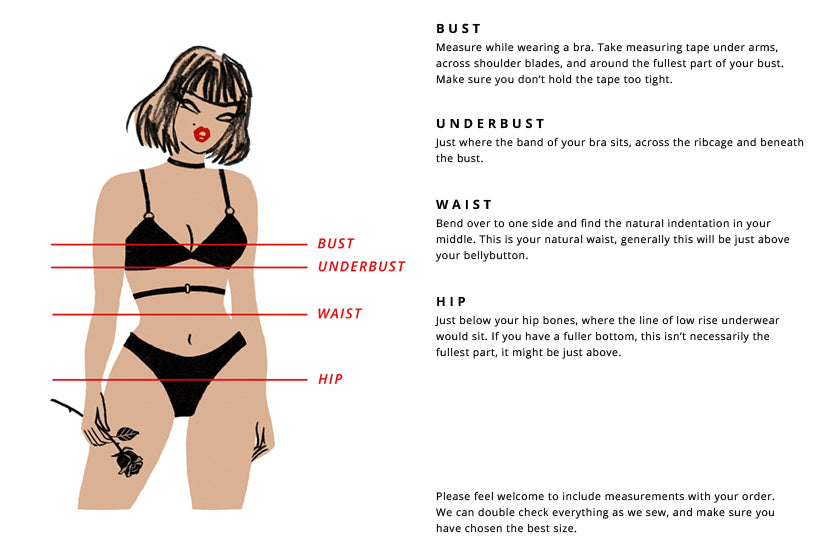 How to Measure | Hopeless Lingerie