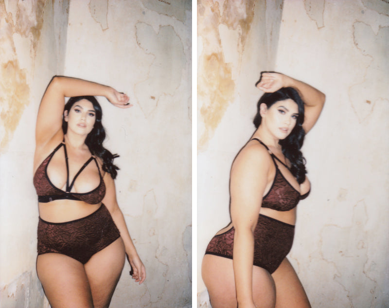 Purple Velvet Suzy Bralette & Knickers | Plus Size Bralette | La'Tecia Thomas X Hopeless