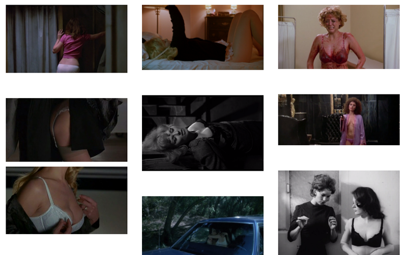 Various Screenshots from the Lingerie in Film Tumblr Blog