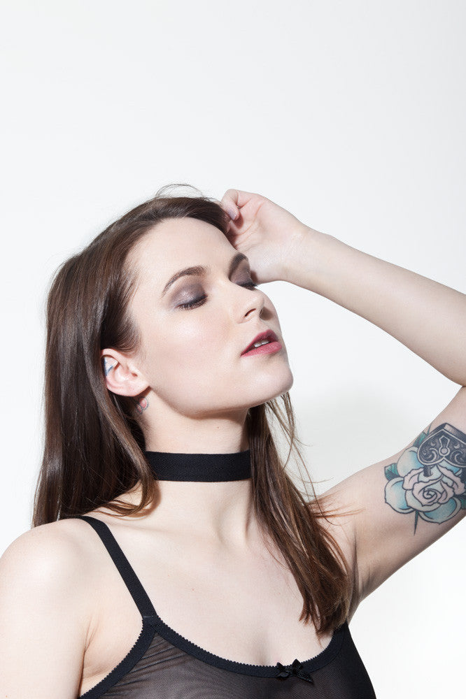 Black Choker Necklace | Vivian by Hopeless Lingerie