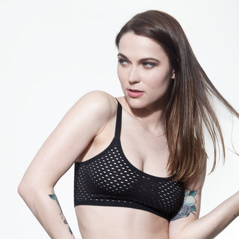 Black Crop Top Bralette | Nancy by Hopeless Lingerie