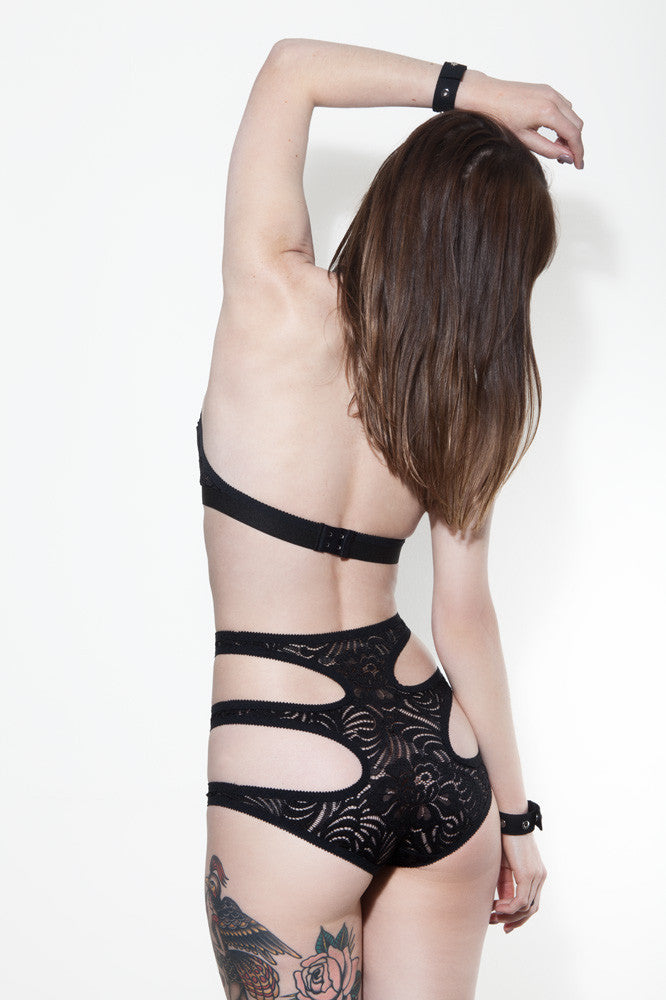 Black Lace Cut Out Underwear | Giselle by Hopeless Lingerie