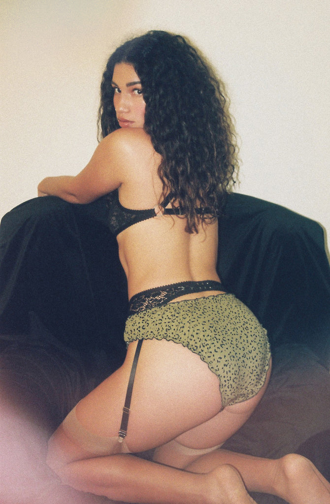 Green Leopard Knickers | Judith by Hopeless Lingerie