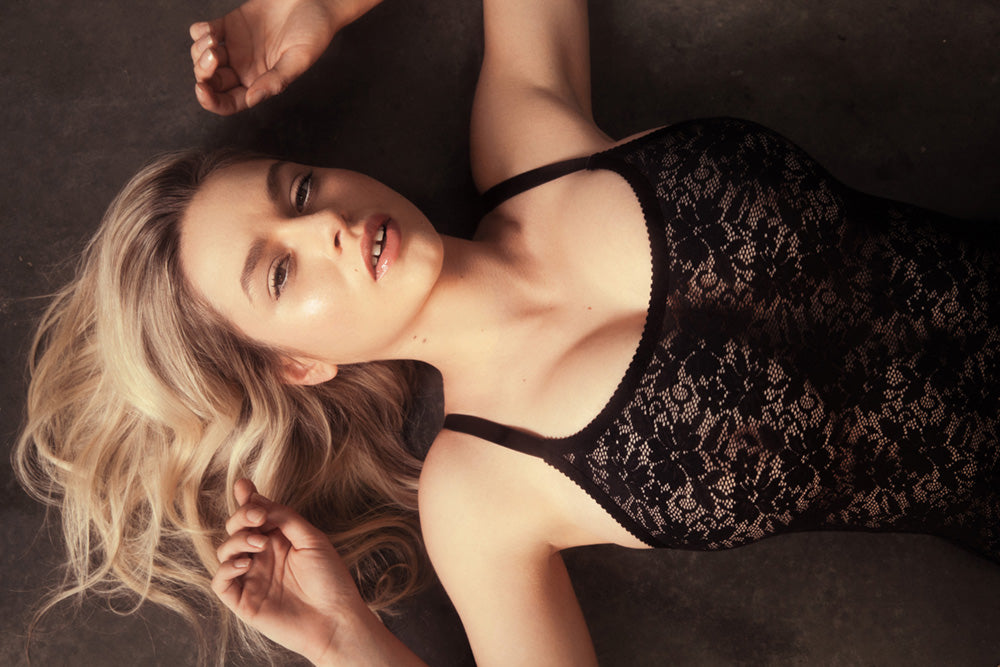 Black Lace Nightie | Alice Nightie By Hopeless Lingerie