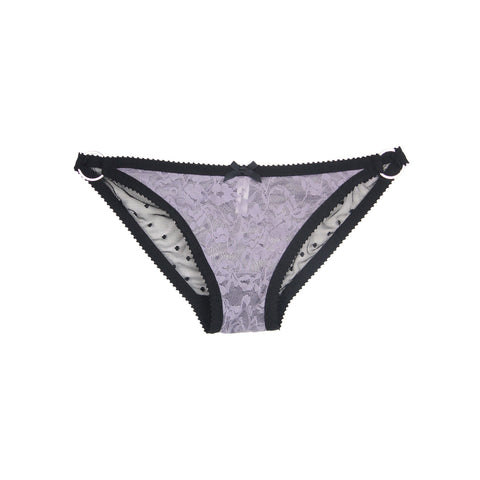 Lilac Lace & Mini Dot Knickers | Nicole by Hopeless Lingerie