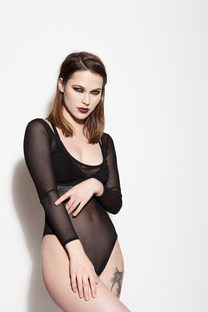 See Through Bodysuit & See Through Wrap Top | Christie & Phoebe by Hopeless Lingerie