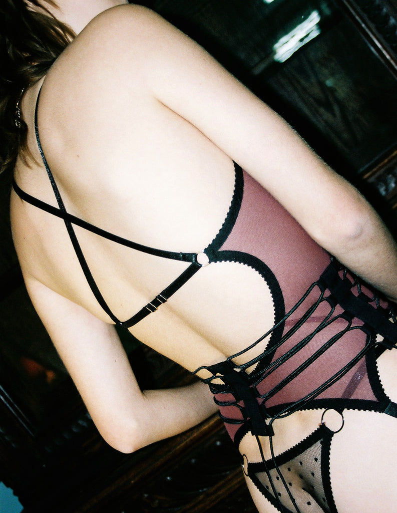 Dark Purple Suspender Tank | Wanda by Hopeless Lingerie