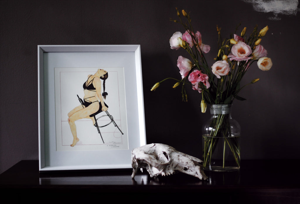 Giclee Art Print by Caitlin Shearer with Flowers for Hopeless Lingerie