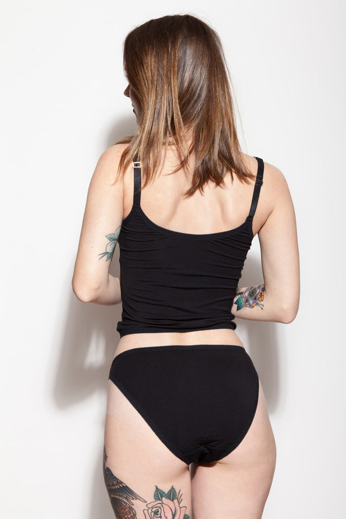 High Cut Panties & Bamboo Singlet | Kim & Kelly by Hopeless Lingerie Back View