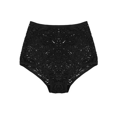 Black Lace High Waisted Lingerie | Jeanne by Hopeless