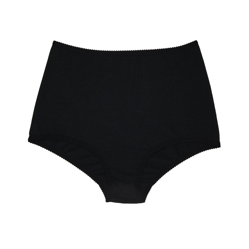Black Organic Cotton Hemp Modal Mesh Knickers | Hopeless Lingerie