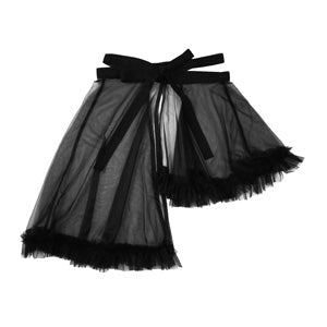 Sheer Ruffle Wrap Skirt | Handmade by Hopeless Lingerie