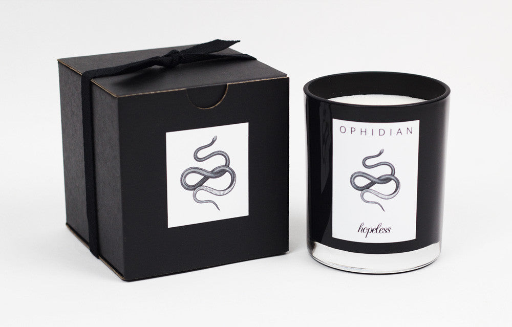 Soy Wax Candle & Box | Ophidian by Hopeless Lingerie
