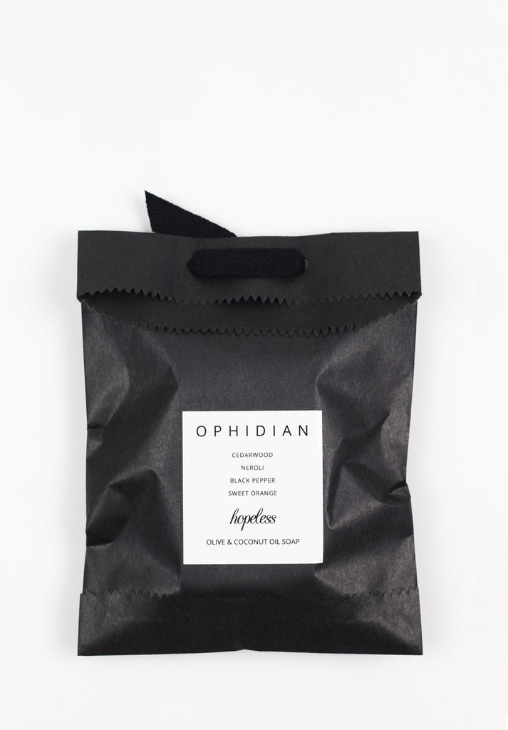 Olive & Coconut Oil Soap Packaging | Ophidian by Hopeless Lingerie