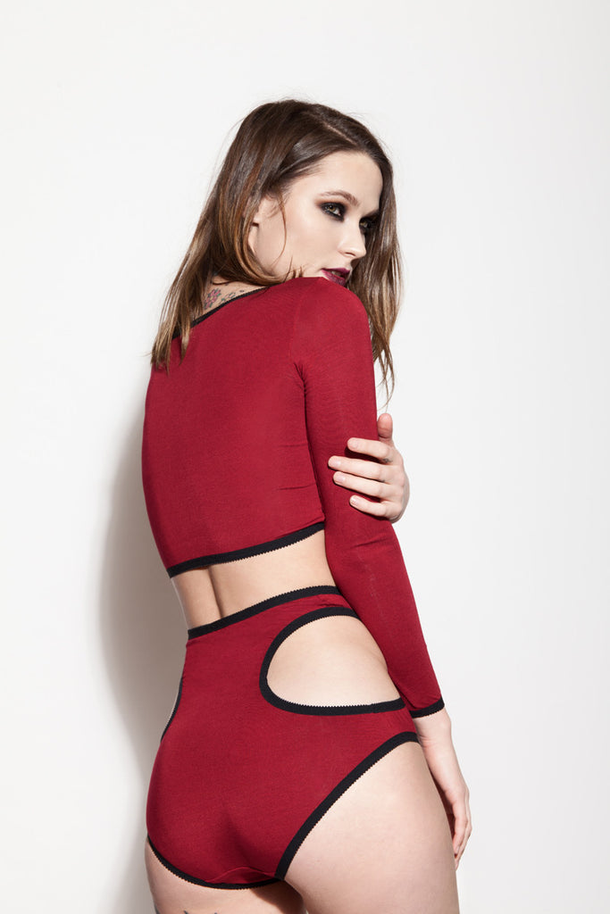 Red Crop Top & Underwear | Minnie & Phoebe by Hopeless Lingerie