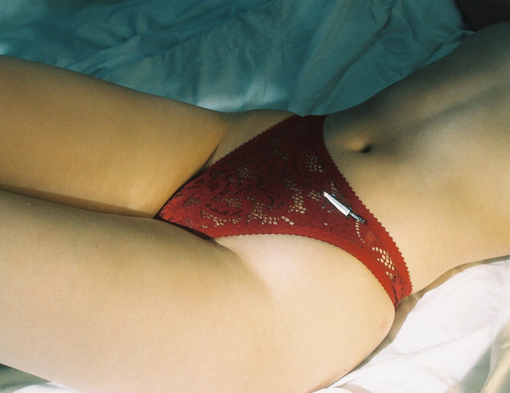 Red Lace High Rise Thong | Hopeless Lingerie