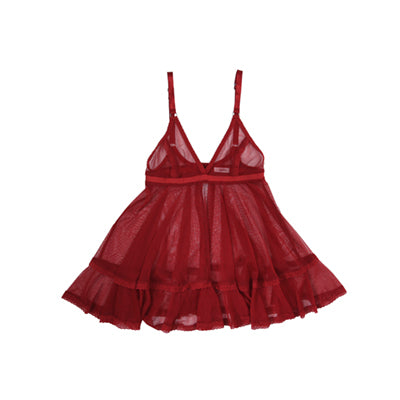 Red Mesh Babydoll Nightie | Hopeless Lingerie