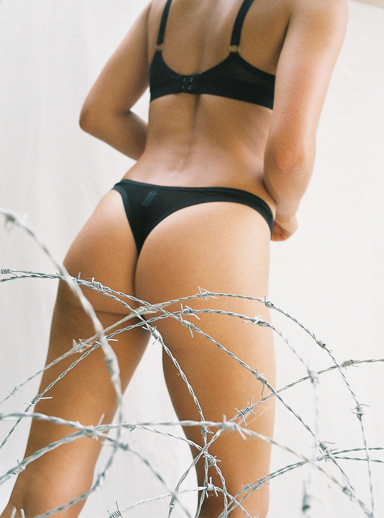 High Cut Thong & Mesh Bralette | Cheryl & Sally by Hopeless Lingerie