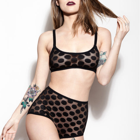 Polka Dot Lingerie Set | Nancy & Jeanne by Hopeless Lingerie