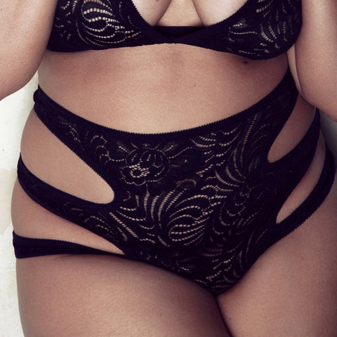 Black Lace Plus Size Lingerie | Giselle by Hopeless