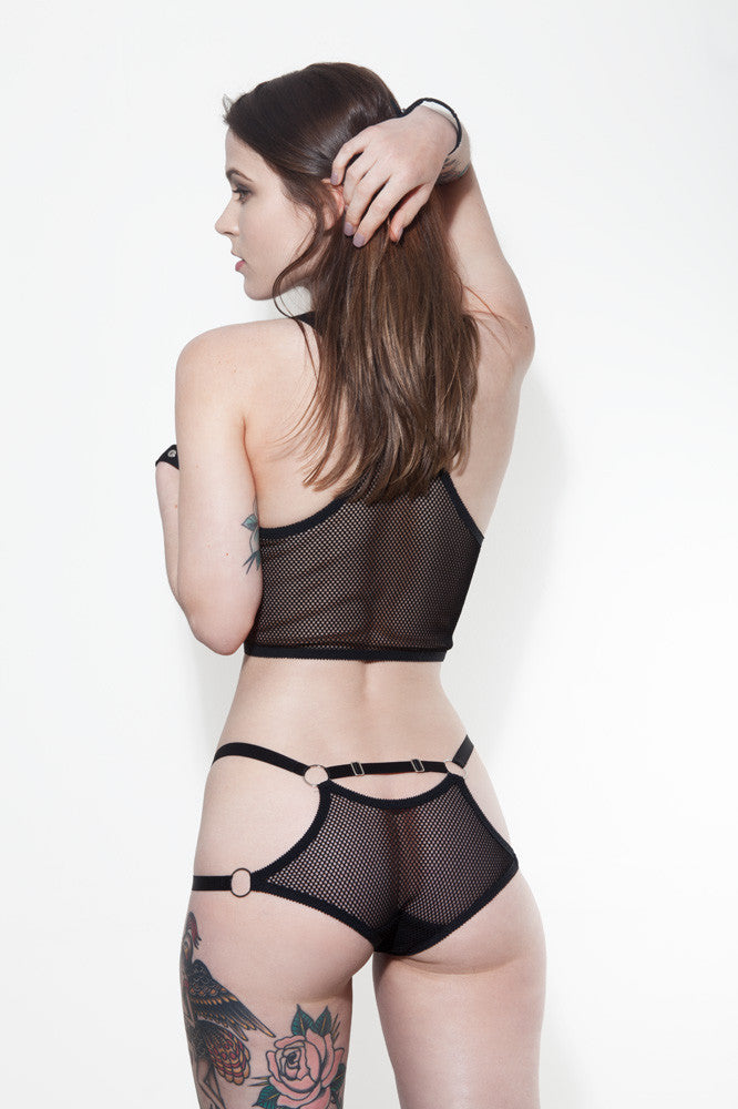 See Through Strappy Lingerie | Heidi & Nadine by Hopeless Lingerie