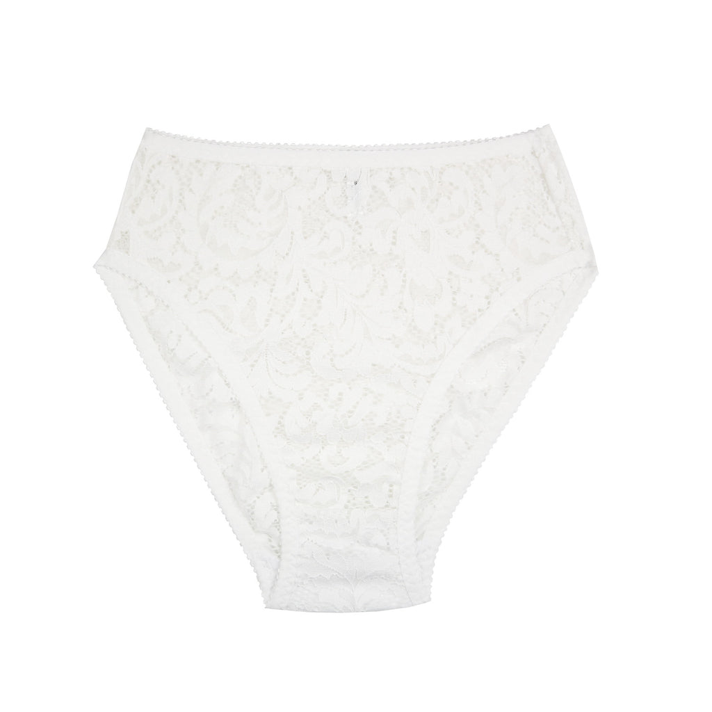White Lace High Waist Lingerie | Deanna by Hopeless