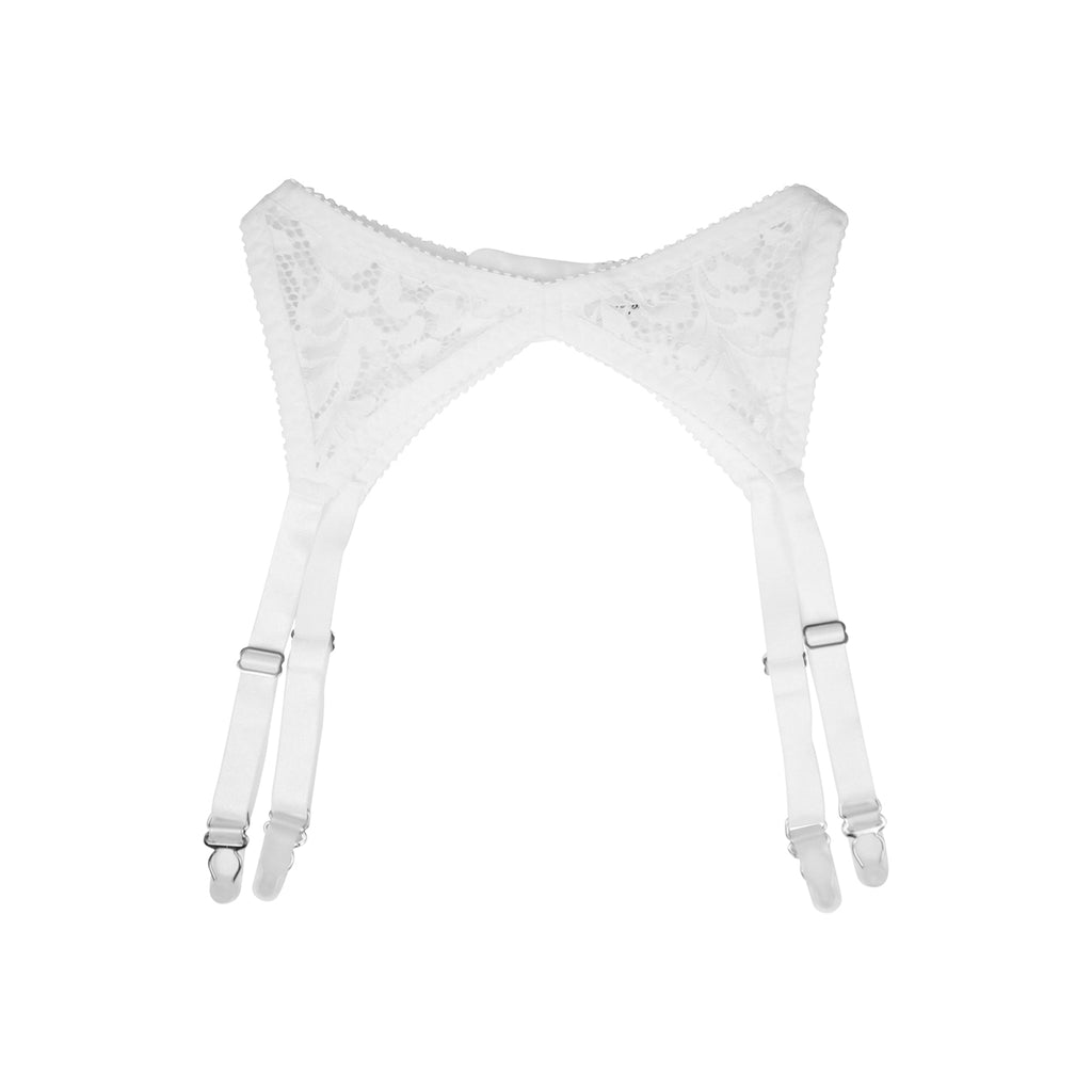 White Lace Suspender | Shelly by Hopeless Lingerie