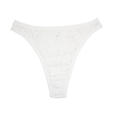 White Lace High Rise Thong | Sabrina by Hopeless Lingerie