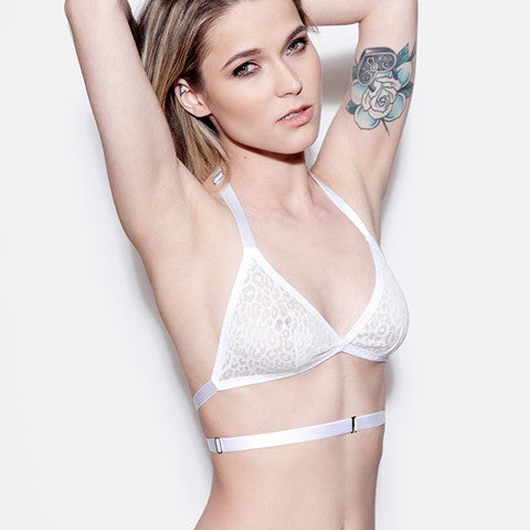 White Strappy Bralette | Rosemary by Hopeless Lingerie