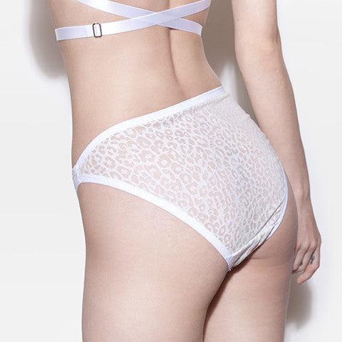 White High Cut Panties | Kelly by Hopeless Lingerie