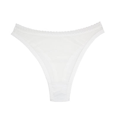 White Mesh High Rise Thong | Sabrina by Hopeless Lingerie