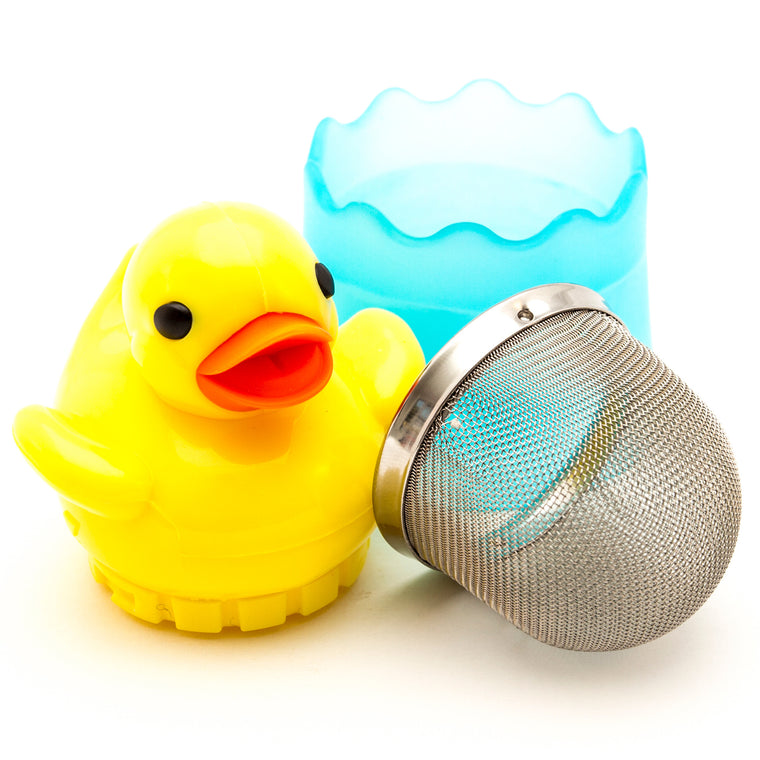 Rubber duck infuser apart
