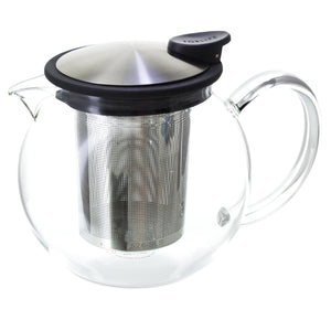 Forlife Bola Glass Teapot with Basket Infuser - 750ml