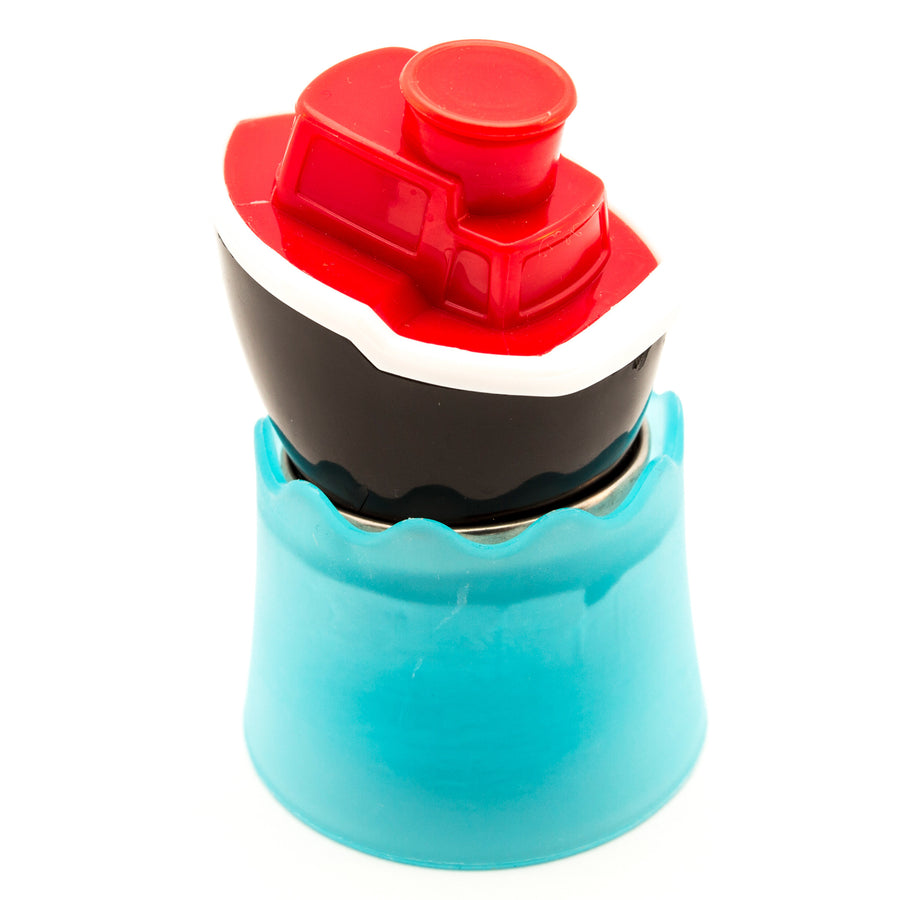Red and black tug boat infuser