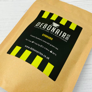 Gyokuro green tea in compostable pouch