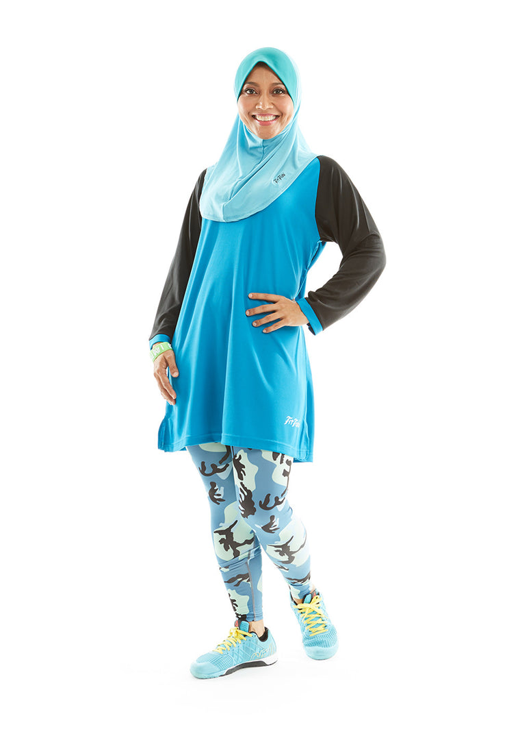 ACTIVEwear Muslimah Persian Blue