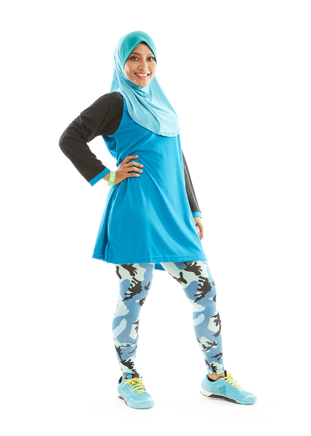 ACTIVEwear Muslimah Blue-Black