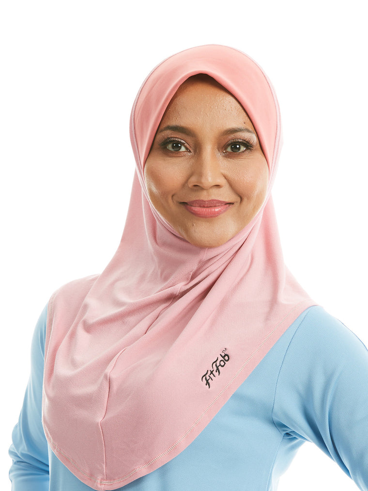 Sporty Hijab Roseate Salmon with Awning