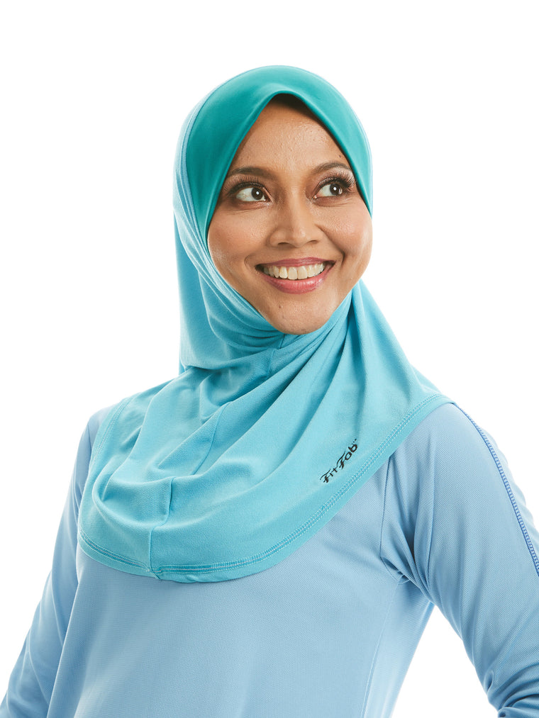 Sporty Hijab Baby Blue Bliss with Awning